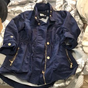 Jackets & Blazers - Navy Blue trendy rain jacket